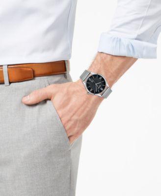 7e0c477726 Boss Hugo Boss Men's Governor Master Stainless Steel Mesh Bracelet Watch  44mm