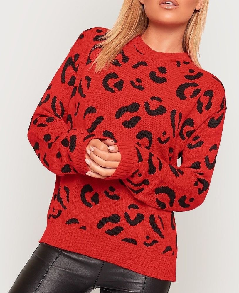 d0dd1090fd Womens Ladies New Long Sleeve Knitted Leopard Print Jumper Sweater Pullover  Top  fashion  clothing  shoes  accessories  womensclothing  sweaters (ebay  link)