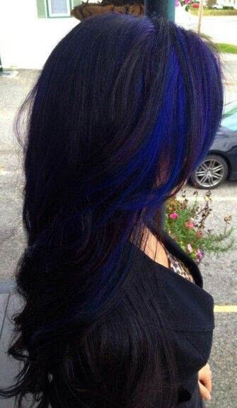 I Absolutely Love This Hair The Color With The Blue Strip Is