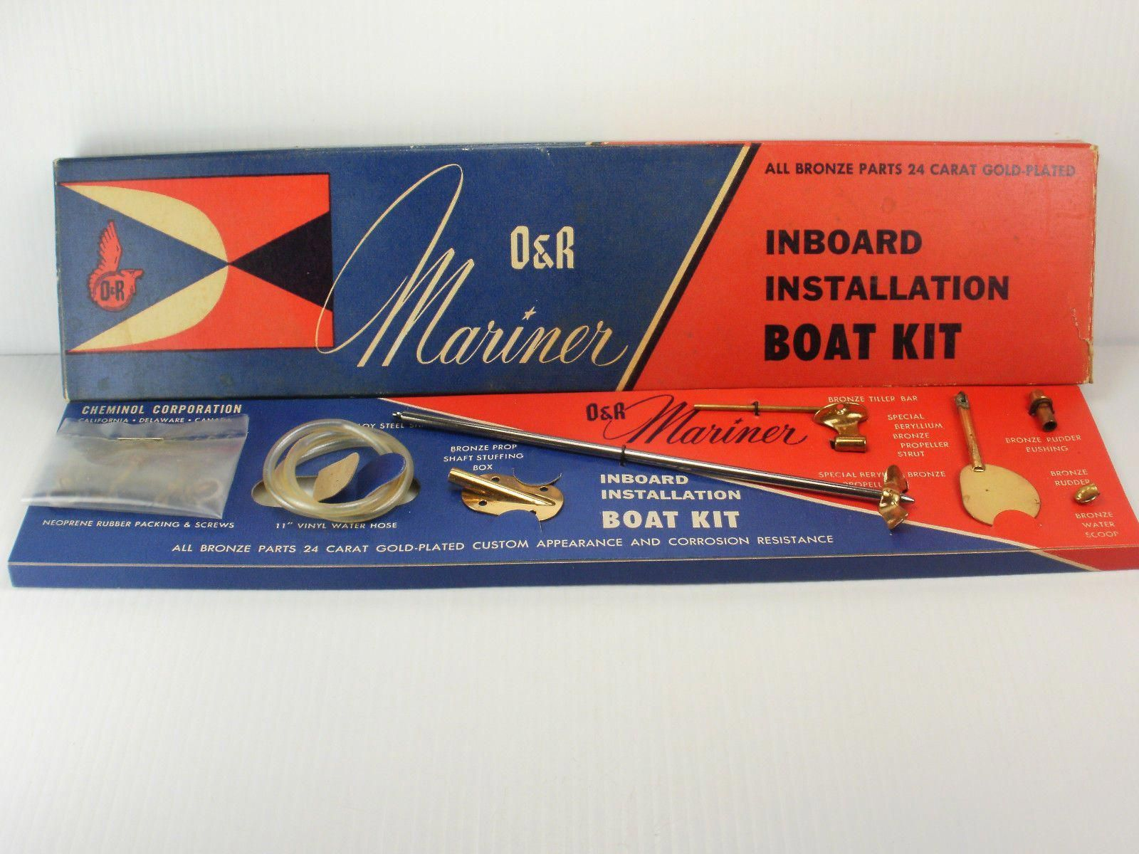 small resolution of new in box vintage o r mariner inboard marine engine installation boat kit ebay boatbuildingkits