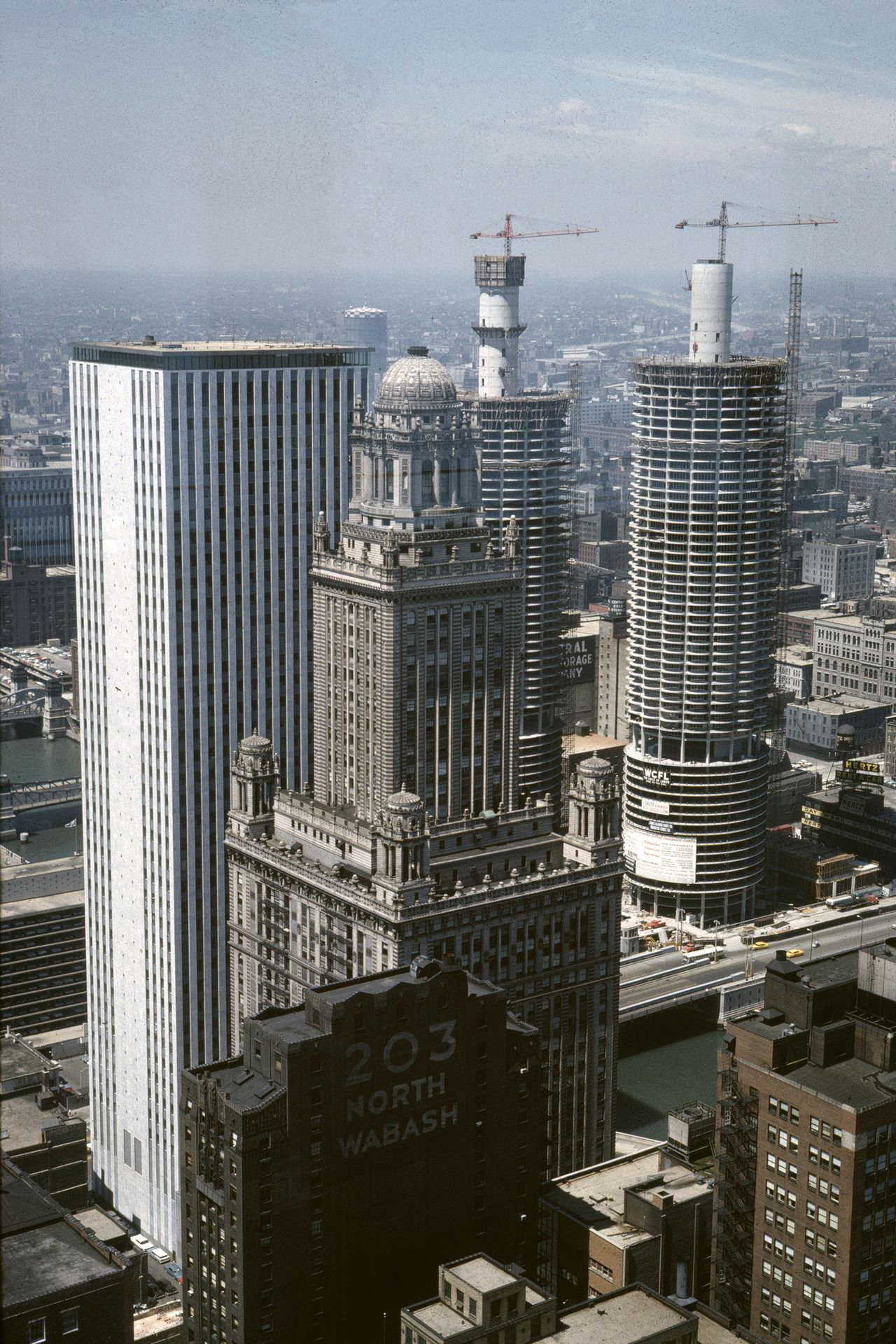 Marina City Towers Under Construction 1962 Http Chicagopast