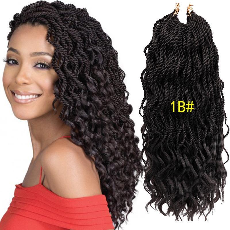 2019 New Style! 18'' Wavy Senegalese Twist Crochet Hair Braids ... #crochetsenegalesetwist