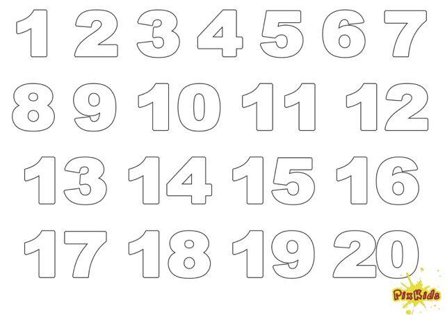 Einfache Zahlen Zum Ausdrucken Nur Kontur 5