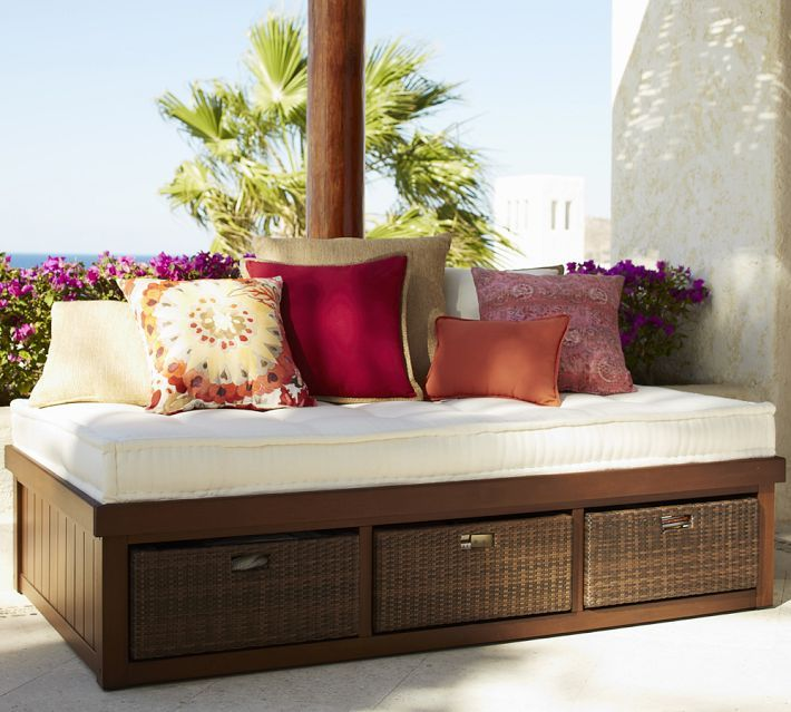Chatham Platform Storage Daybed Garden Outdoor