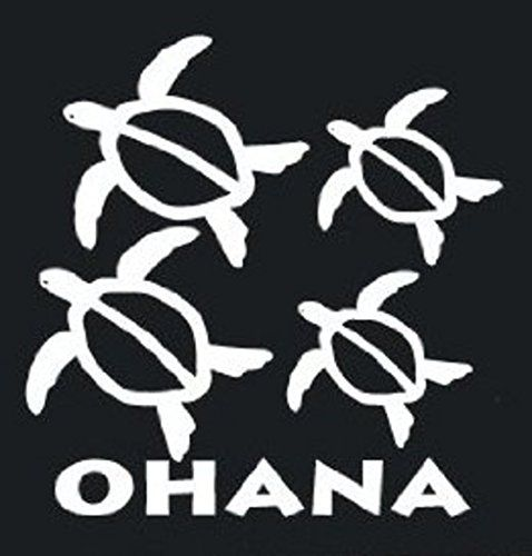 Black, 7 CMI Lilo and Stitch Inspired Ohana Family Decal Sticker