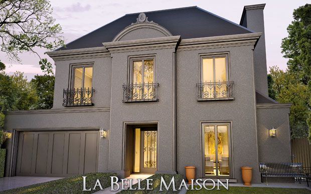 La Belle Maison Affordable French Provincial Homes By Englehart Jpg 620 386 French Provincial Home Facade House French House