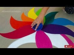 Easy Peacock Rangoli Design For Diwali - The Handmade Crafts #rangolidesignsdiwali Easy Peacock Rangoli Design For Diwali - The Handmade Crafts #rangolidesignsdiwali