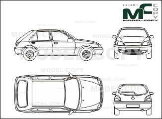 Ford fiesta 5 doors 2000 blueprints ai cdr cdw dwg dxf eps ford fiesta 5 doors 2000 blueprints ai cdr cdw malvernweather Image collections
