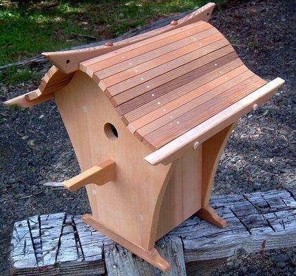 Handmade Japanese Asian Style Bird House Bird Houses Bird House
