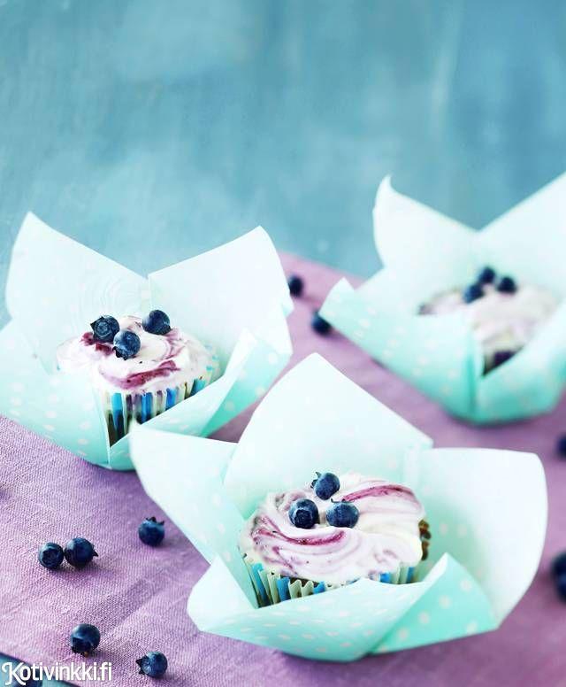 Kuorrutetut mustikkamuffinit | Kotivinkki
