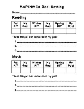 Our Students Are Competitive Setting Goals Is A Great Way To Get Students To Push Themselves This Goal Sheet Is Used To Track And Nwea Map Student Goals Nwea