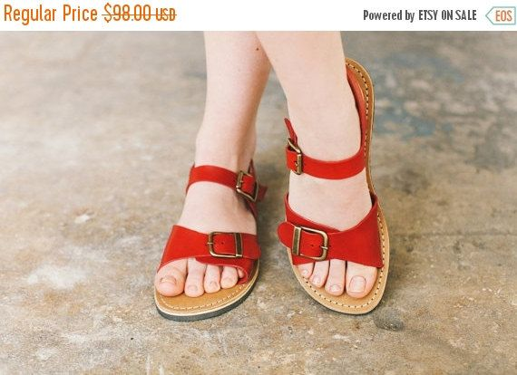 0acd48418364c Wide Foot, Narrow Foot, Summer Shoes, Custom Sandals, Red Leather ...