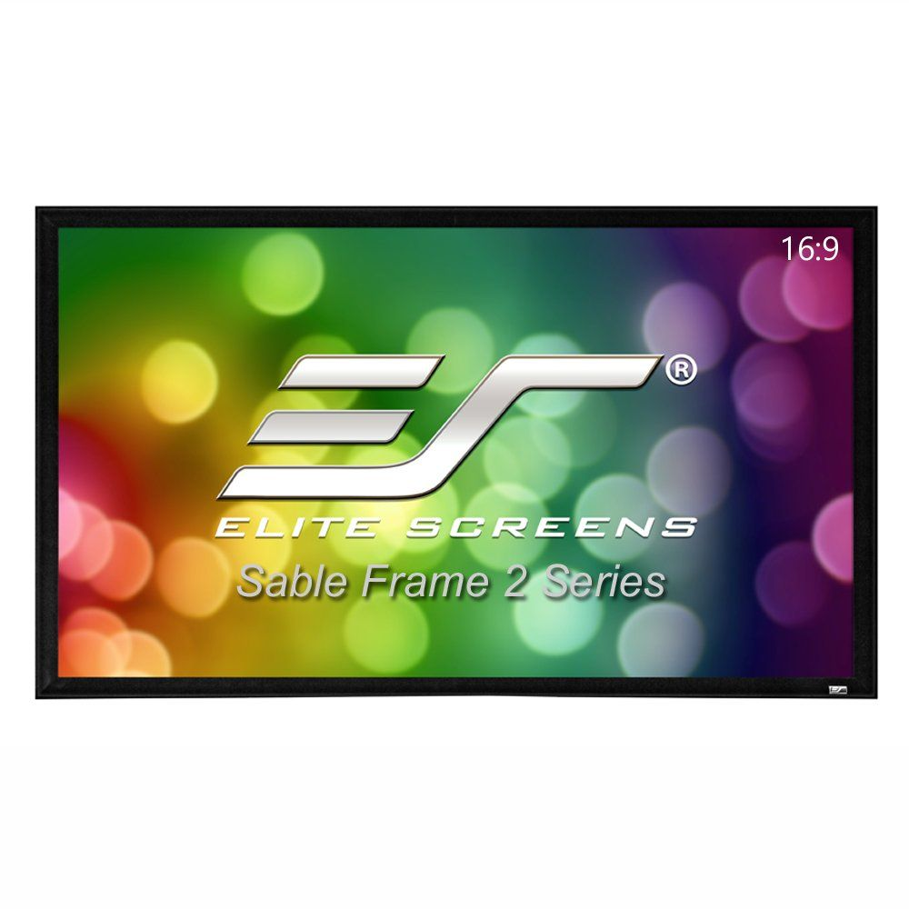 Elite Screens Sable Frame 2 110 Inch 16 9 Active 3d 4k Ultra Hd Ready Fixed Frame Home Th Projector Screen Home Theater Projectors 120 Inch Projector Screen