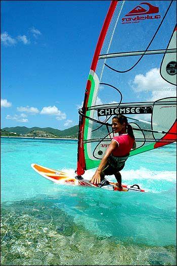 how to water start windsurfing