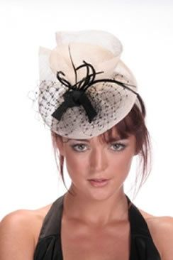 Hatsonheads Designer hat making kit -Style 4 Ivory Black  1686c0efea8