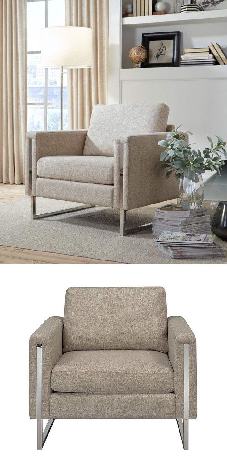 Urban Eclectic Nickel Frame Accent Chair By Pulaski