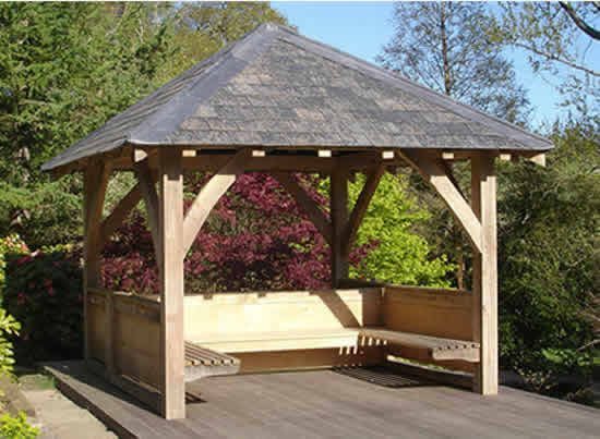 Traditional Oak Timber Frame Manufacture Devon Garden Huts Gazebo Garden Gazebo