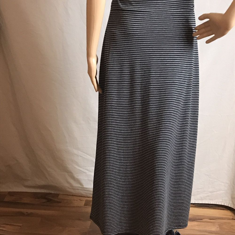 7c2e1c1d5 Faded Glory Women's Pull On Maxi Skirt Long Grey striped size medium 8-10  #fashion #clothing #shoes #accessories #womensclothing #skirts (ebay link)