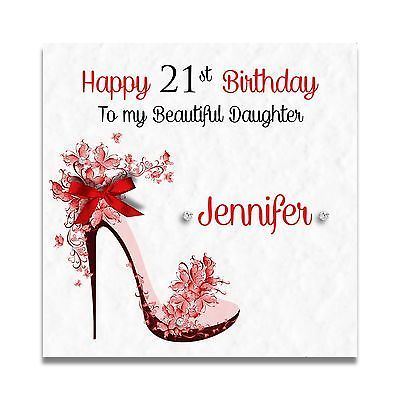 Handmade Personalised Daughter Granddaughter 16th 18th 21st 30th Birthday Card