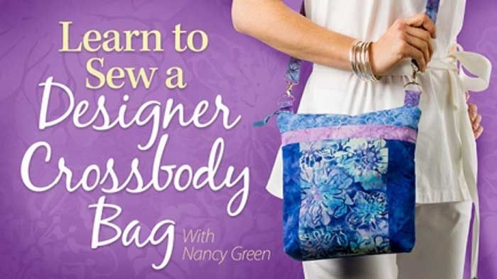 Learn to Sew a Designer Crossbody Bag Online Class   Sewing class ...