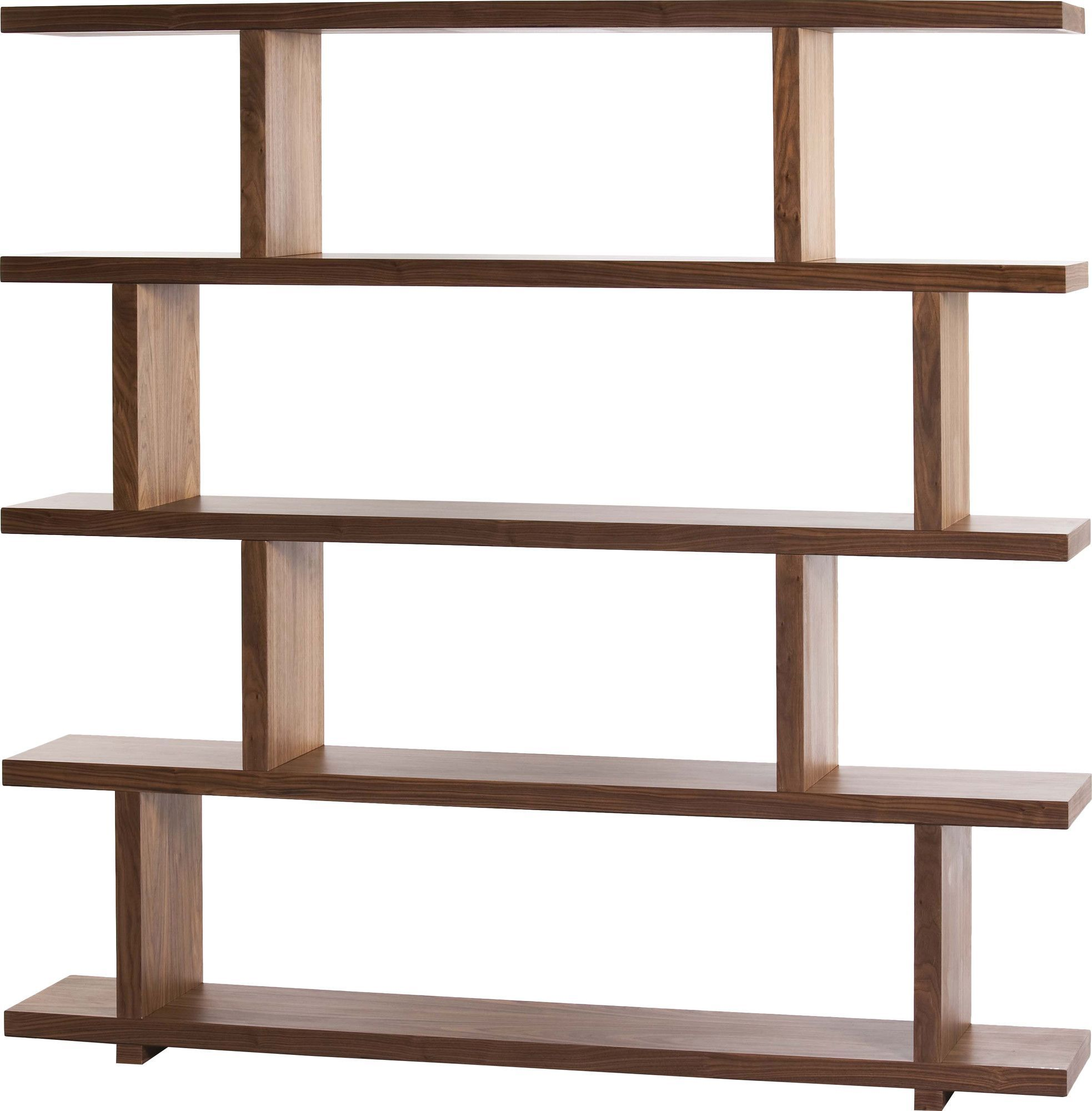"Raney 62.6"" Accent Shelves Bookcase"