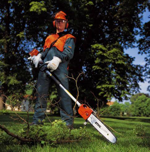 long reach chainsaw pruner | STIHL Long Reach Pole Pruner Pole Saw