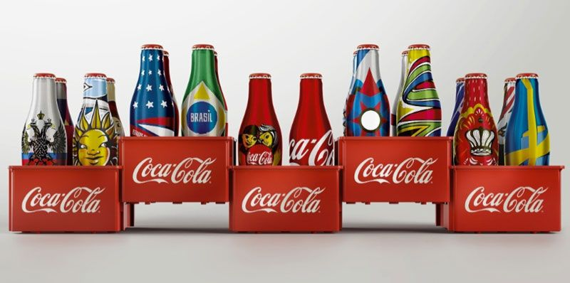 Mini bottles of Coca-Cola for 2014 World Cup in Brazil.