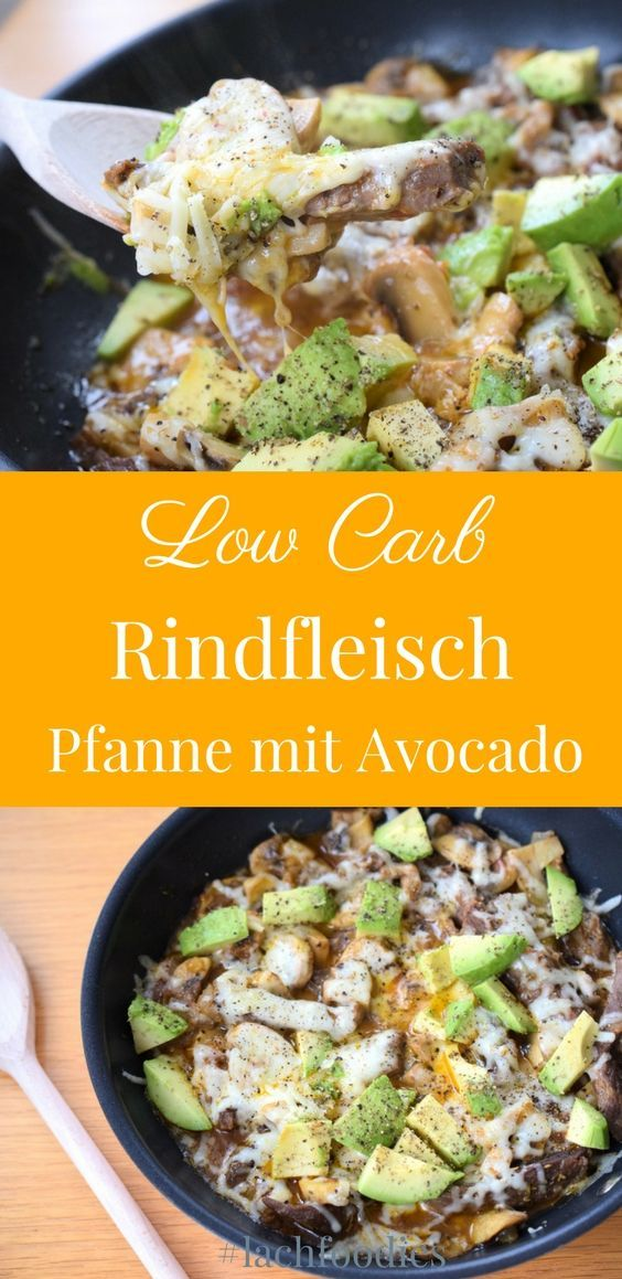 Low carb stir-fry with beef and avocado - Low carb stir-fry with avocado and beef. A super delicio