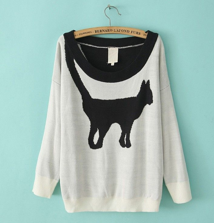 Size: One size Fabric: Knitted Blends Colors: Black / Beige  Measurements Bust: 102cm Shoulder + Sleeve: 57cm Length: 62m  Please check the measurement chart carefully. Because of different producing batches, there may be deviation of 2~3 cm.  ****PLEASE NOTE**** Order processing for t...