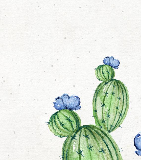 Photo of Set of 3 watercolor cactus print – Cactus art print – Gallery wall cactus print set – Digital cactus artwork – Printable cactus wall art
