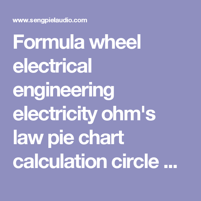 Formula wheel electrical engineering electricity ohms law pie – Electrical Pie Chart