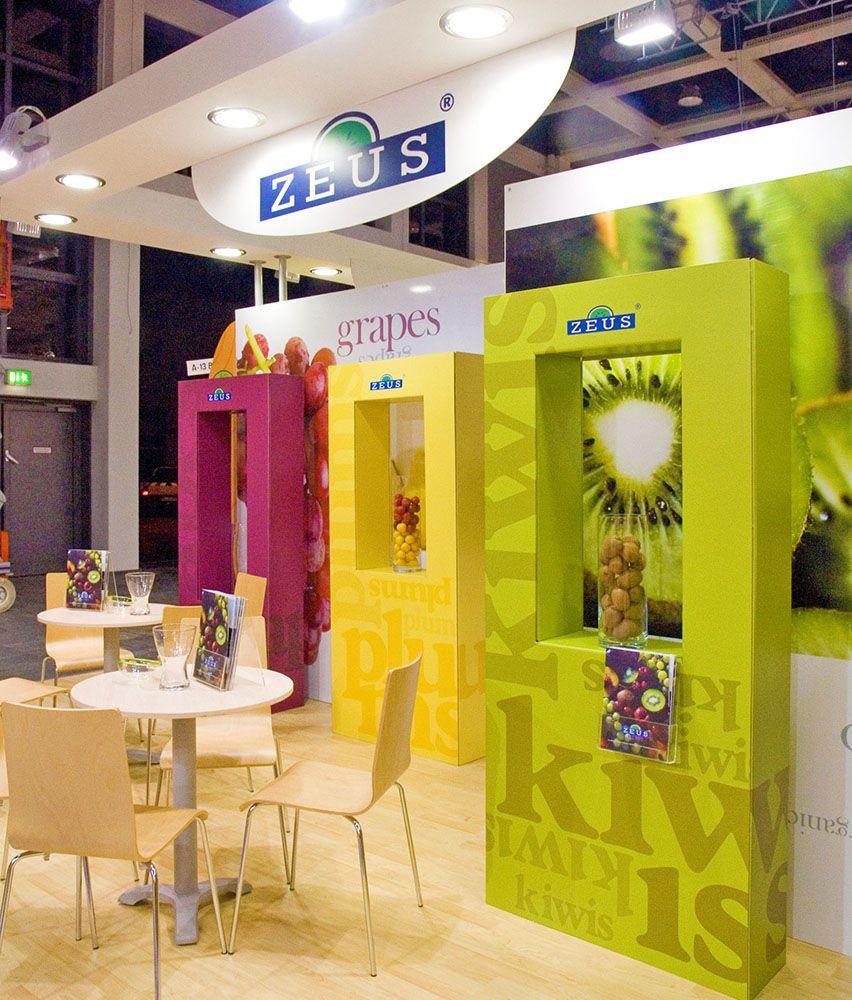 Zeus Exhibition Stand : Exhibition design for zeus kiwi at fruit logistica