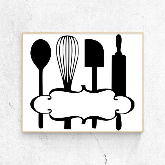 Download Kitchen Svg, Kitchen Clipart, Kitchen Utensils, Monogram ...