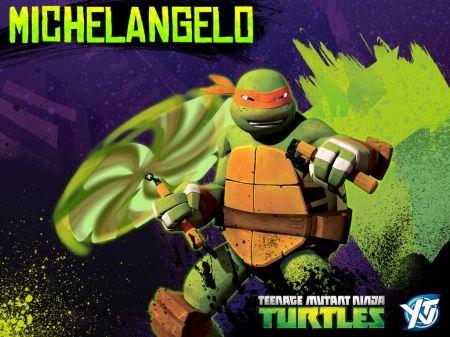 Tmnt 2012 Michelangelo Wallpaper