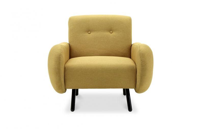 fauteuil scandinave jaune moutarde style annes 50 shopper durgence chez picevivre - Fauteuil Scandinave Moutarde