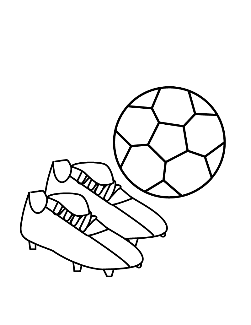 Soccer Shoes Coloring Pages For Kids Zz Printable Balls Coloring Pages For Kids