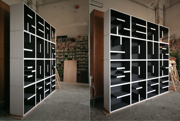 ABC Bookcase   Letters And Numbers Modular Cube Storage From Saporiti:  Http://