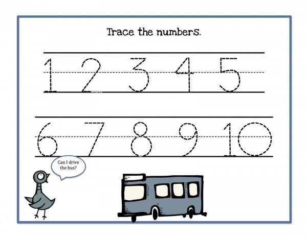 Comfortable Tracing Numbers 1 To 10 Gallery - Collection Of ...