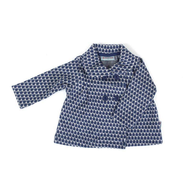 Jaquard Froy & dind blauw grijs