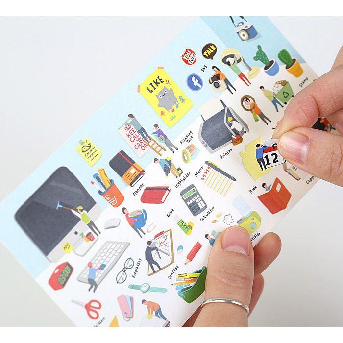 PONYBROWN Desk little universe deco sticker - fallindesign