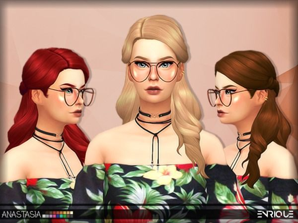 The Sims Resource Enriques4Anastasia Hair by Jruvv