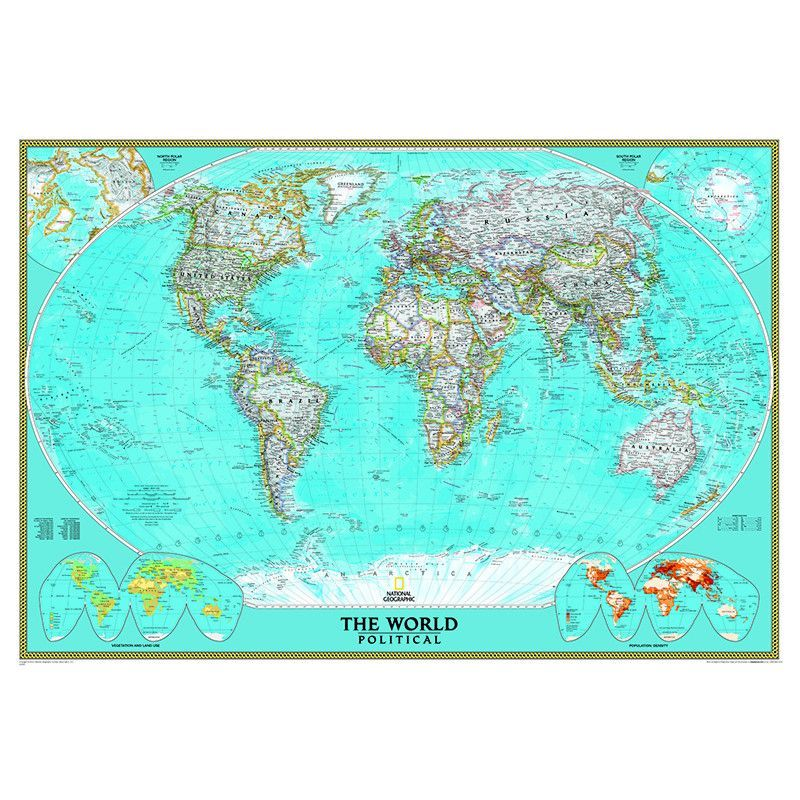 WORLD MURAL MAP