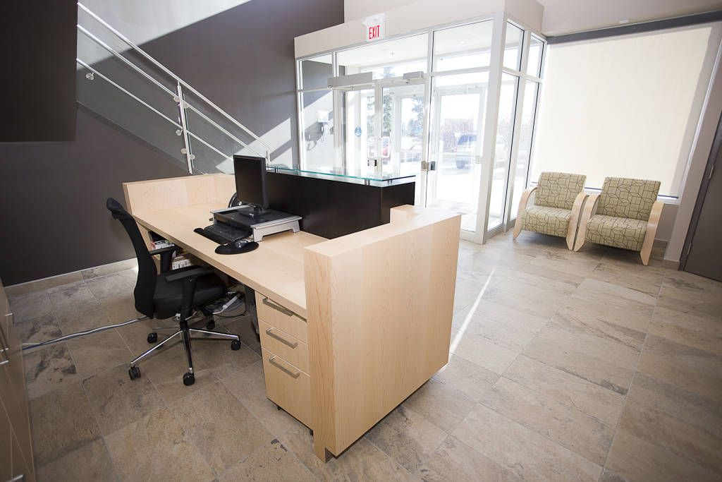Commercial interior design photos for accuristix sensyst created a space that was functional and a warm and inviting space to work in