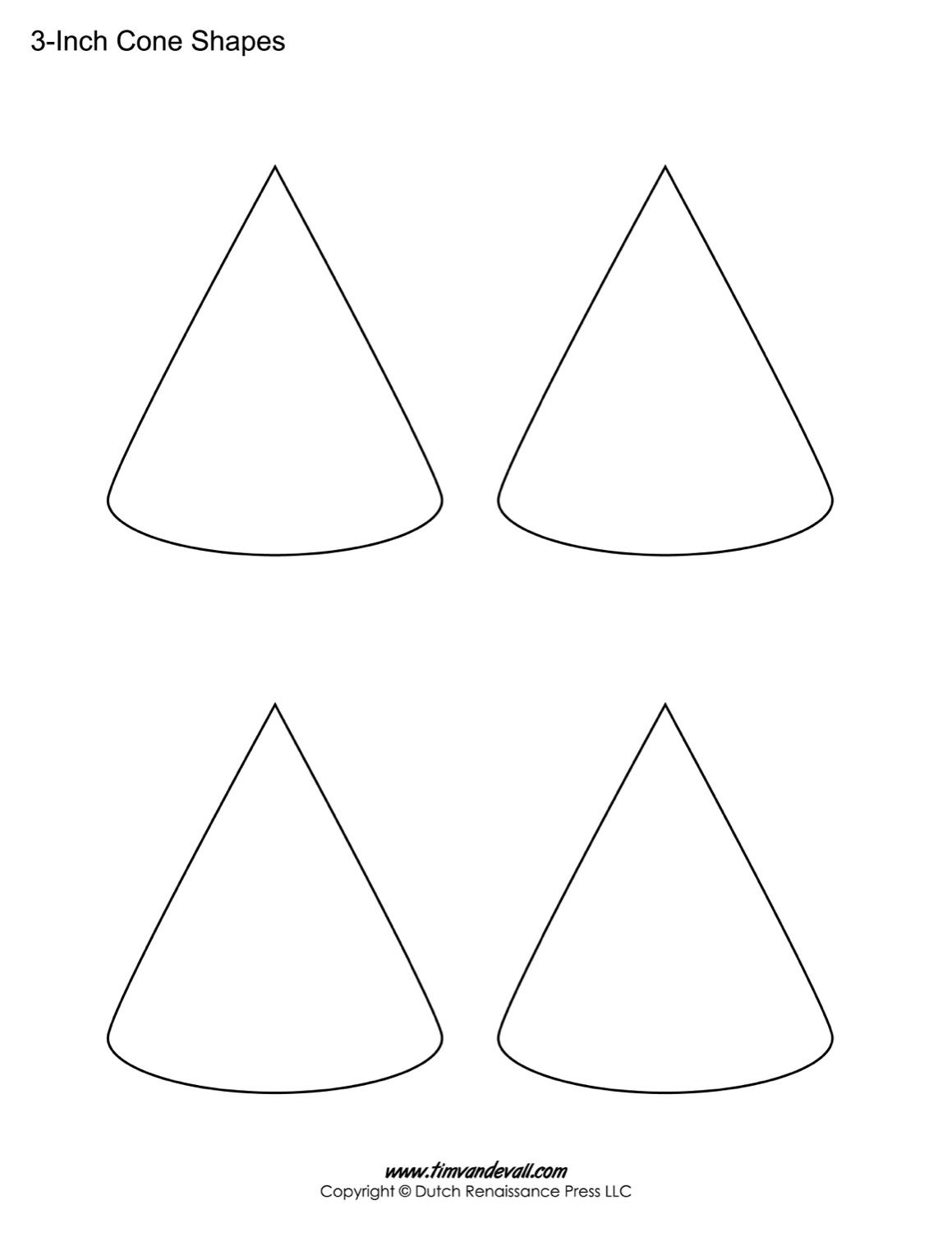 If You Need To Print A Cone Shape For A School Homework