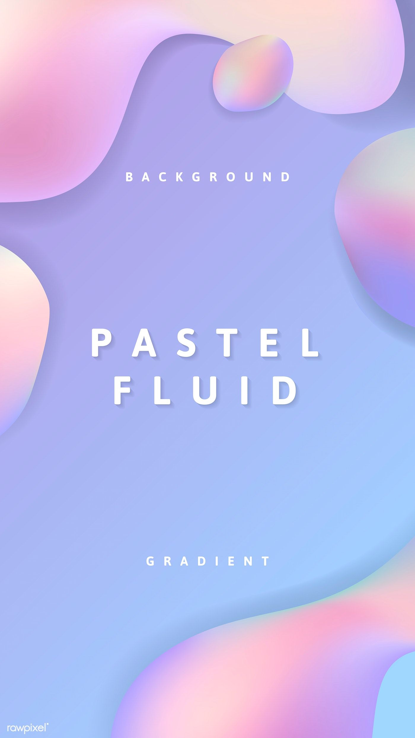 Purple Pastel Fluid Design Poster Vector Free Image By Rawpixel