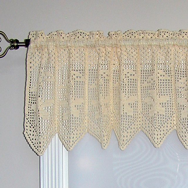Bunches of Daisies Valance pattern by Kathryn A. Clark ...