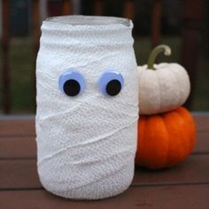 Halloween Mason Jar Mummy                                                       …