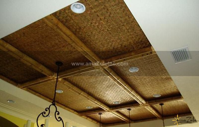 Weaved Mats Ceiling Google Search Bamboo Ceiling Bar Ceilings Ceiling Design