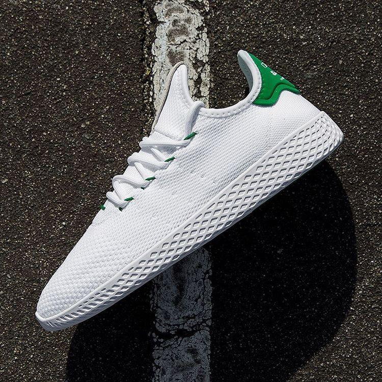 "Sneaker News on Instagram: ""The Pharrell x adidas Originals Tennis Hu is  releasing this"