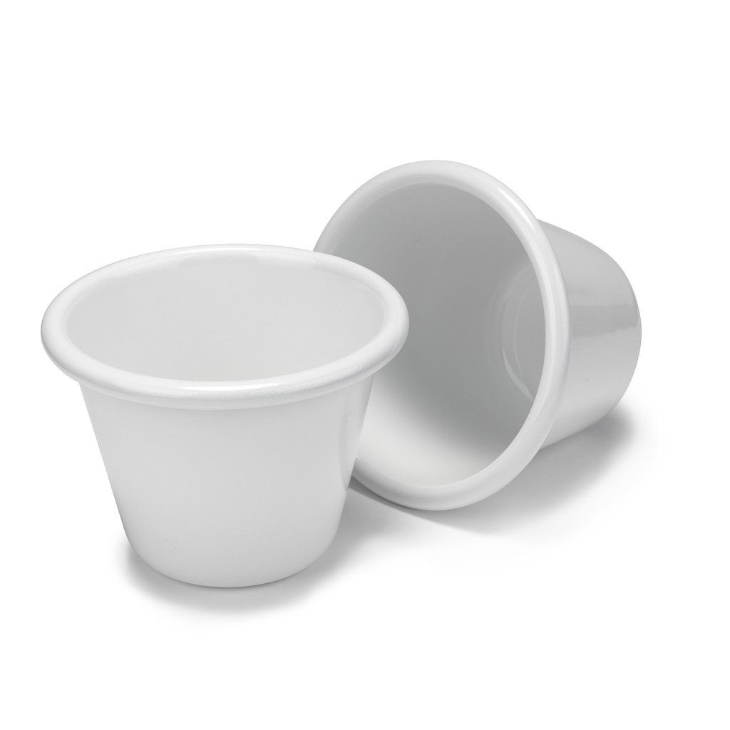 Exclusive White Enamel Cup Set of 2 by Barnlight Electric X goop